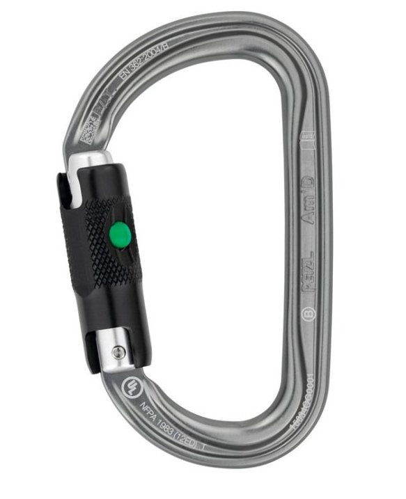 Karabinek Petzl AM'D BALL LOCK M34A BL