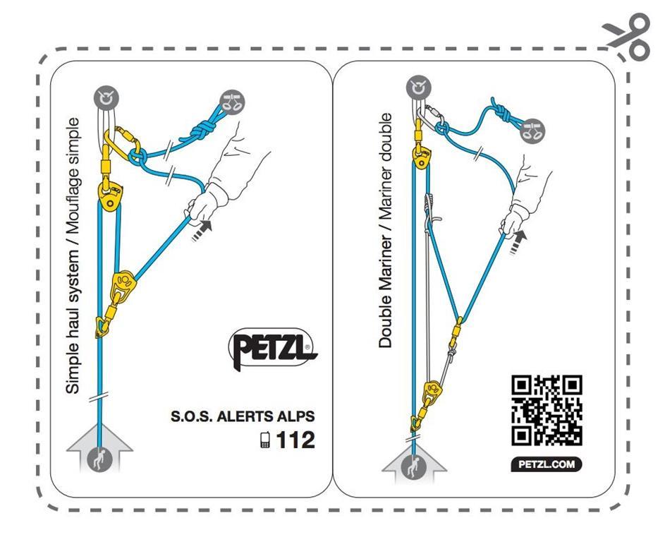 Petzl Zestaw Ratowniczy Crevasse K Sc on 3 1 Mechanical Advantage System Z Rig